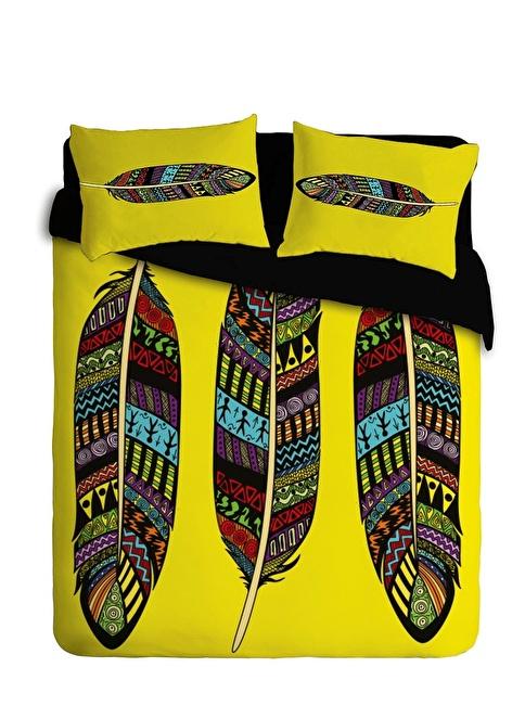Thanx Co Feather Tek Kişilik Nevresim Takımı Renkli